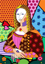 Mona Lisa to Britto style design
