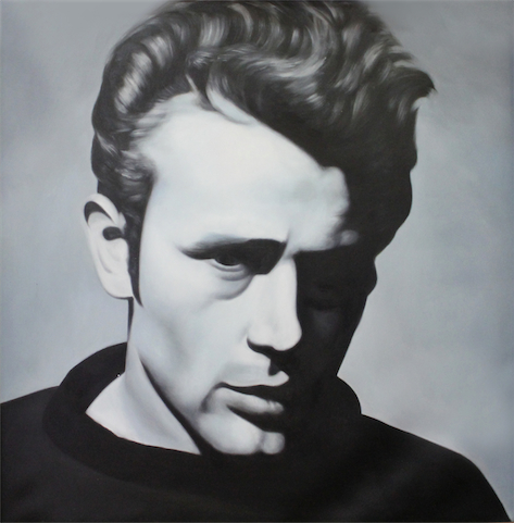james dean black and white painting - photo #5